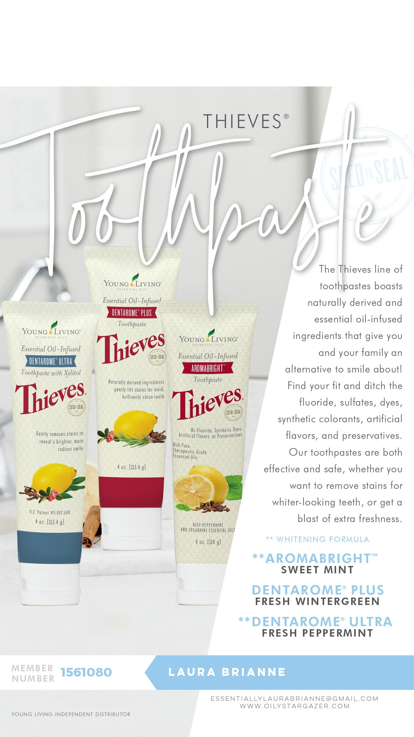 Thieves Toothpaste #Teeth #Tooth #Clean #Mouth #Dental #Toothpaste #Thieves  Find these products and so much more at www.oilystargazer.com
