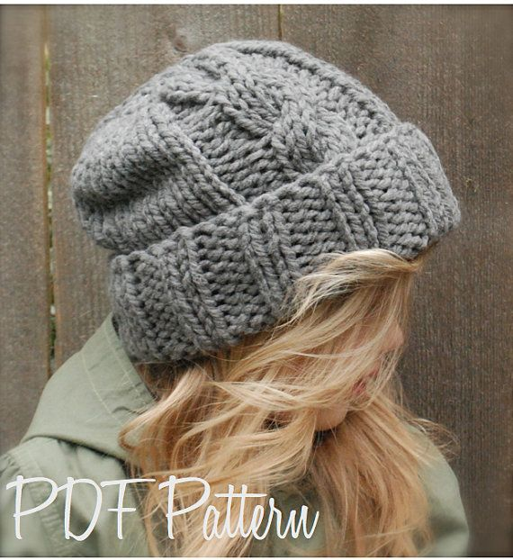 Knitting PATTERN-The Beckett Hat (Toddler, Child, Adult sizes ...