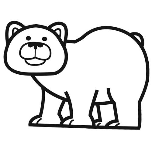 dessin coloriage ours