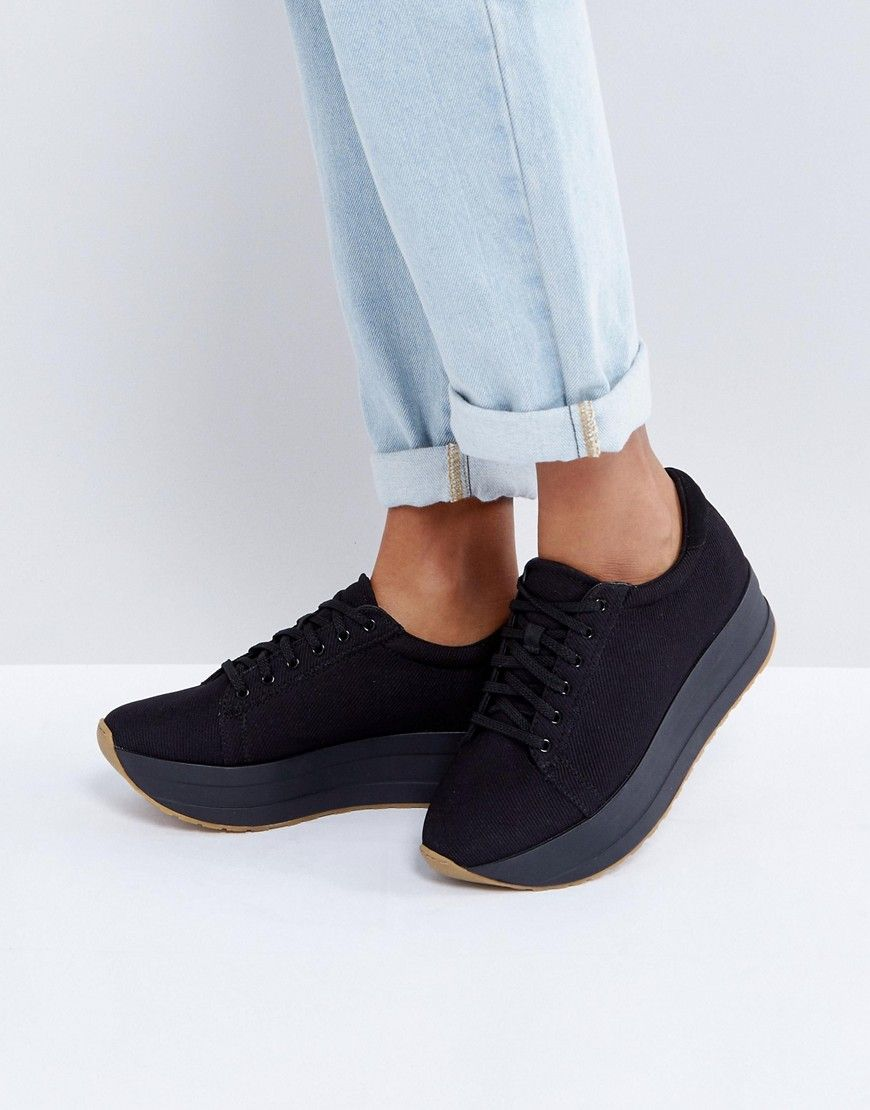 Buy Women Shoes / Vagabond Casey Black Flatform Trainers