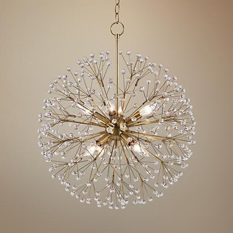 Hudson Valley Dunkirk 20 W Aged Brass Crystal Chandelier 1k850 Lamps Plus Bedroom Light Fixtures Bedroom Lighting Bedroom Lighting Diy