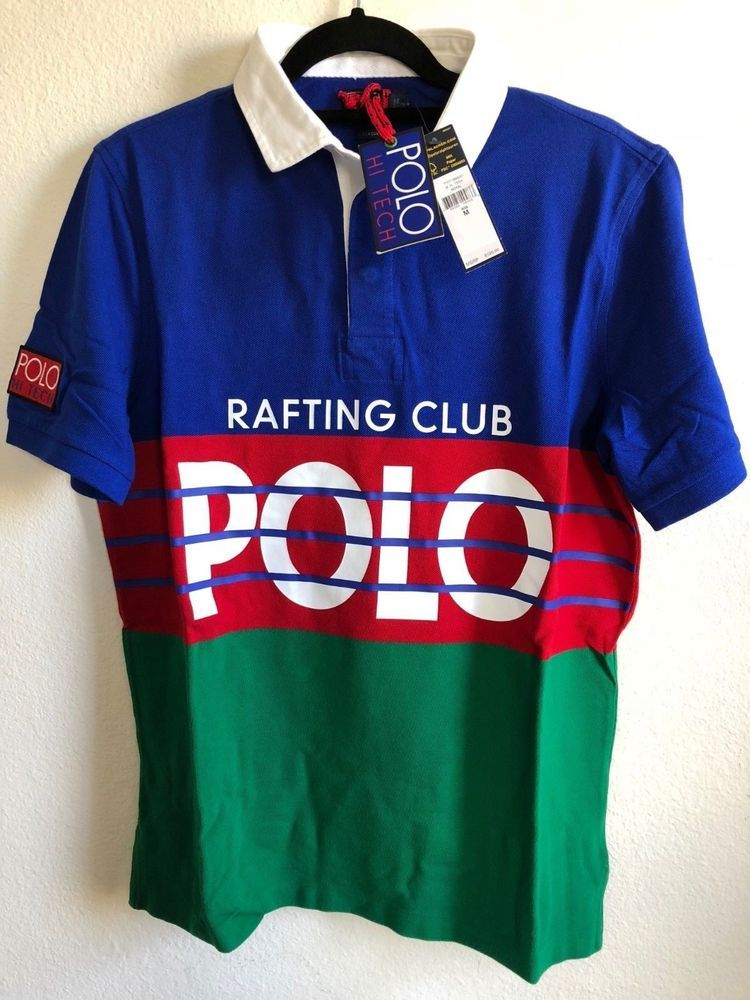 9a651fb286694 Ralph Lauren Polo Rafting Club S S Rugby MEDIUM Hi Tech CP-93 Stadium Snow  Beach  fashion  clothing  shoes  accessories  mensclothing  shirts (ebay  link)