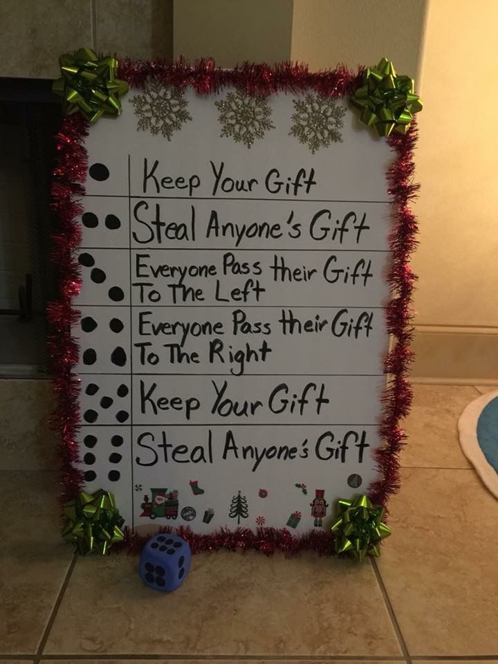Christmas Gift Exchange Ideas For Big Families.Fun Idea Family Christmas Gift Exchange Everyone Starts