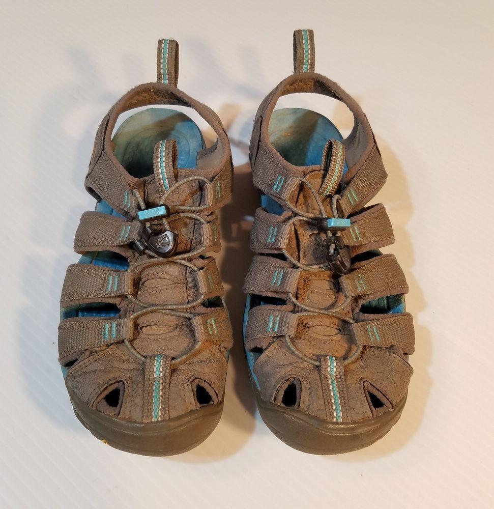 d02cbc2b0d1 Keen Women s Sport Waterproof Hiking Sandals Shoes Size 36 Gray Blue 5.5M   KEEN