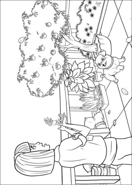 Free Coloring Sheets of Barbie Thumbelina Printable