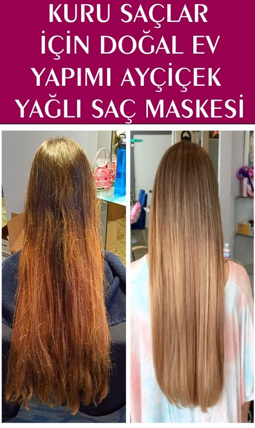 Kuru Saçlar İçin Doğal Ev Yapımı Ayçiçek Yağlı Saç Maskesi