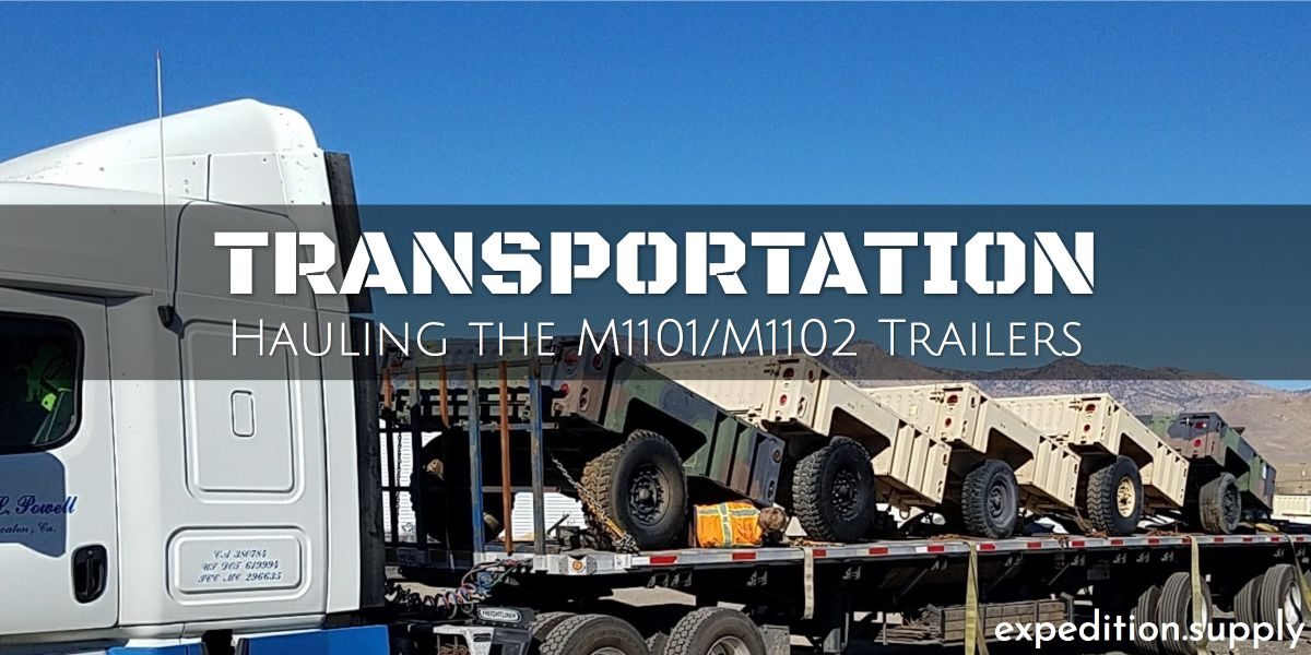 Expedition Supply hauls a lot of Military #M1101 #M1102 ... on