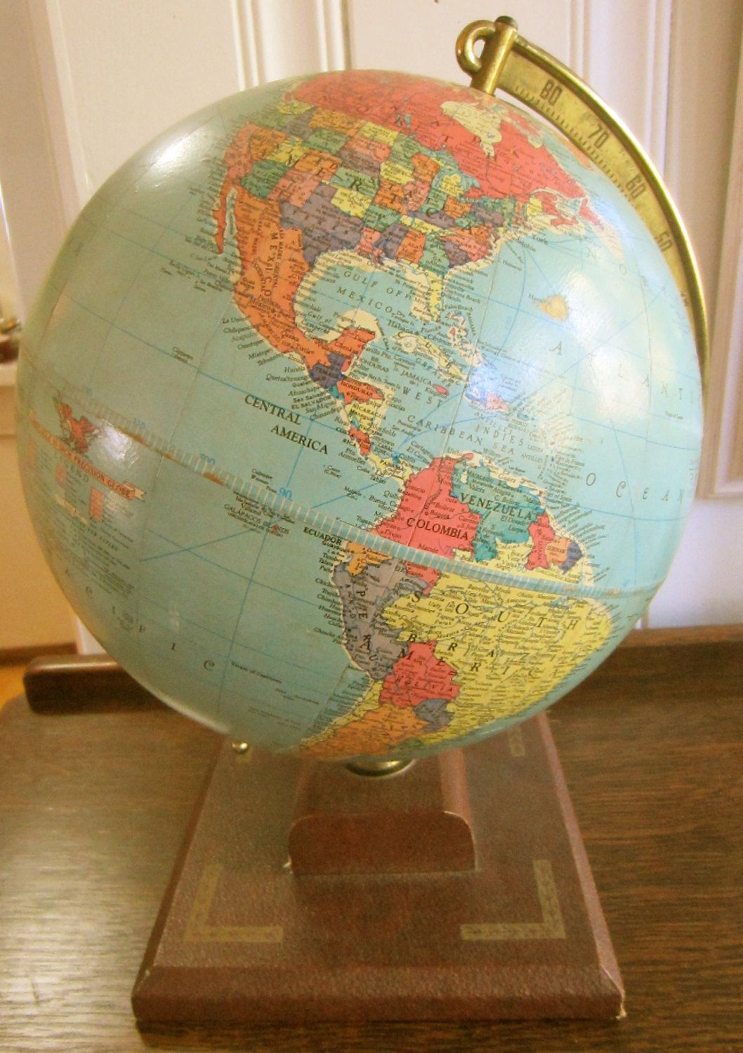 Charmant Antique / Vintage 10 Inch Replogle Precision Globe   World Globe   Home  Decor   Earth