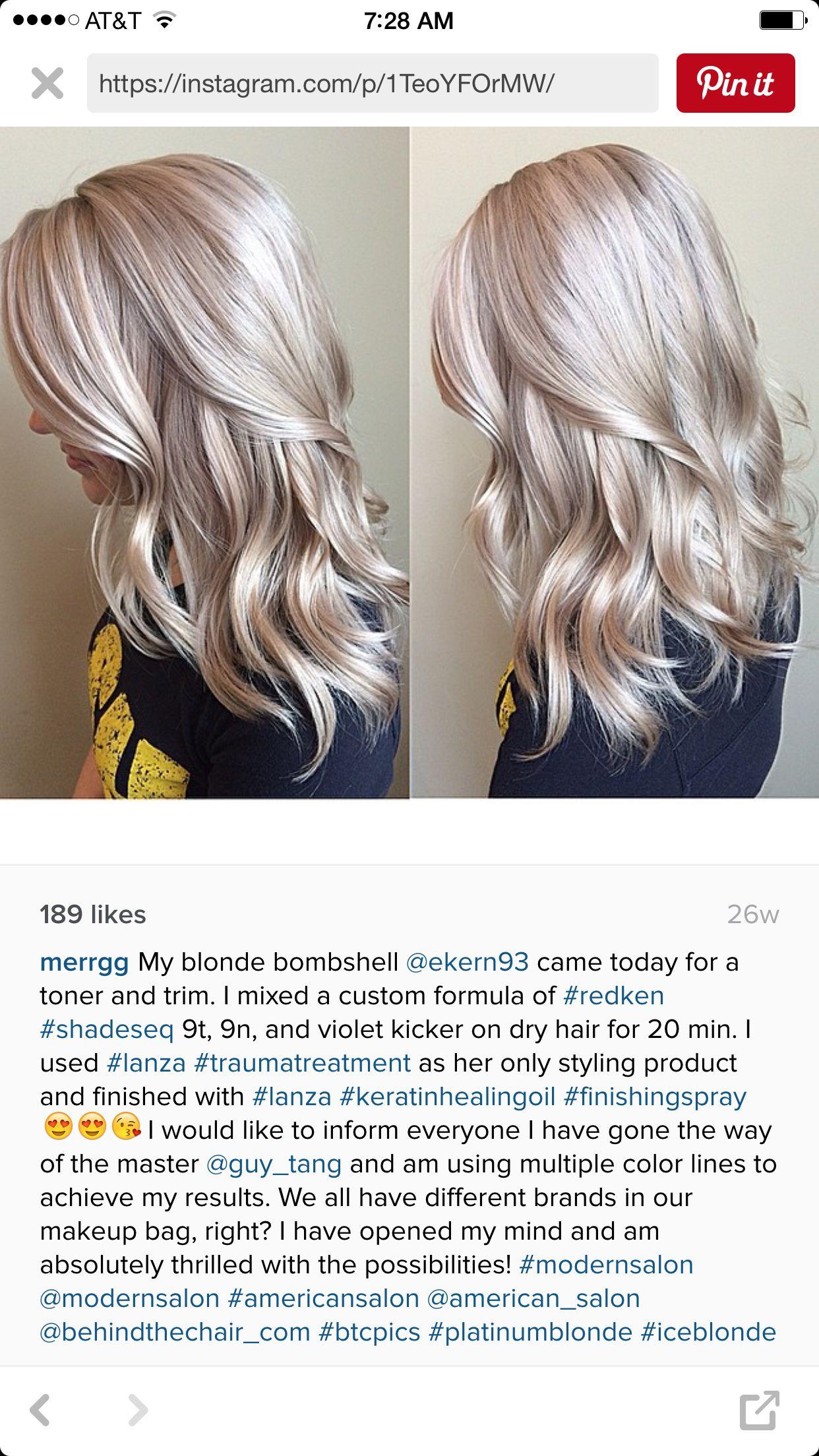 Ash Blonde Hair Color Formulas Blonde Hair Color Blonde Toner