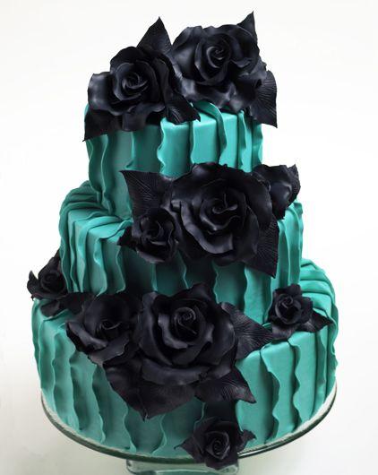 Hochzeitstorte In Blau Und Schwarz Hochzeitstorten
