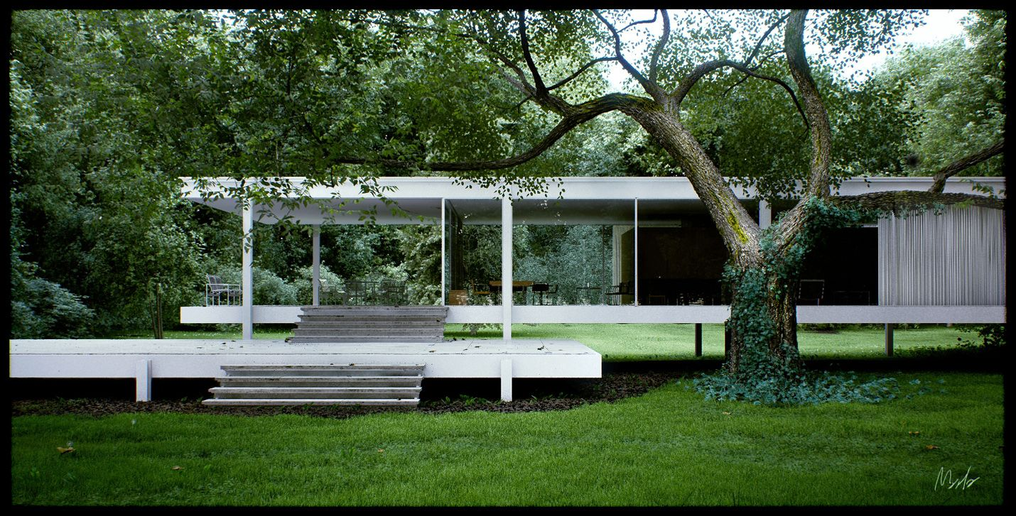 Farnsworth house by mies van der rohe exterior 8 jpg - My New Favorite Architect From Times Past Ludwig Mies Van Der Rohe Today S Google
