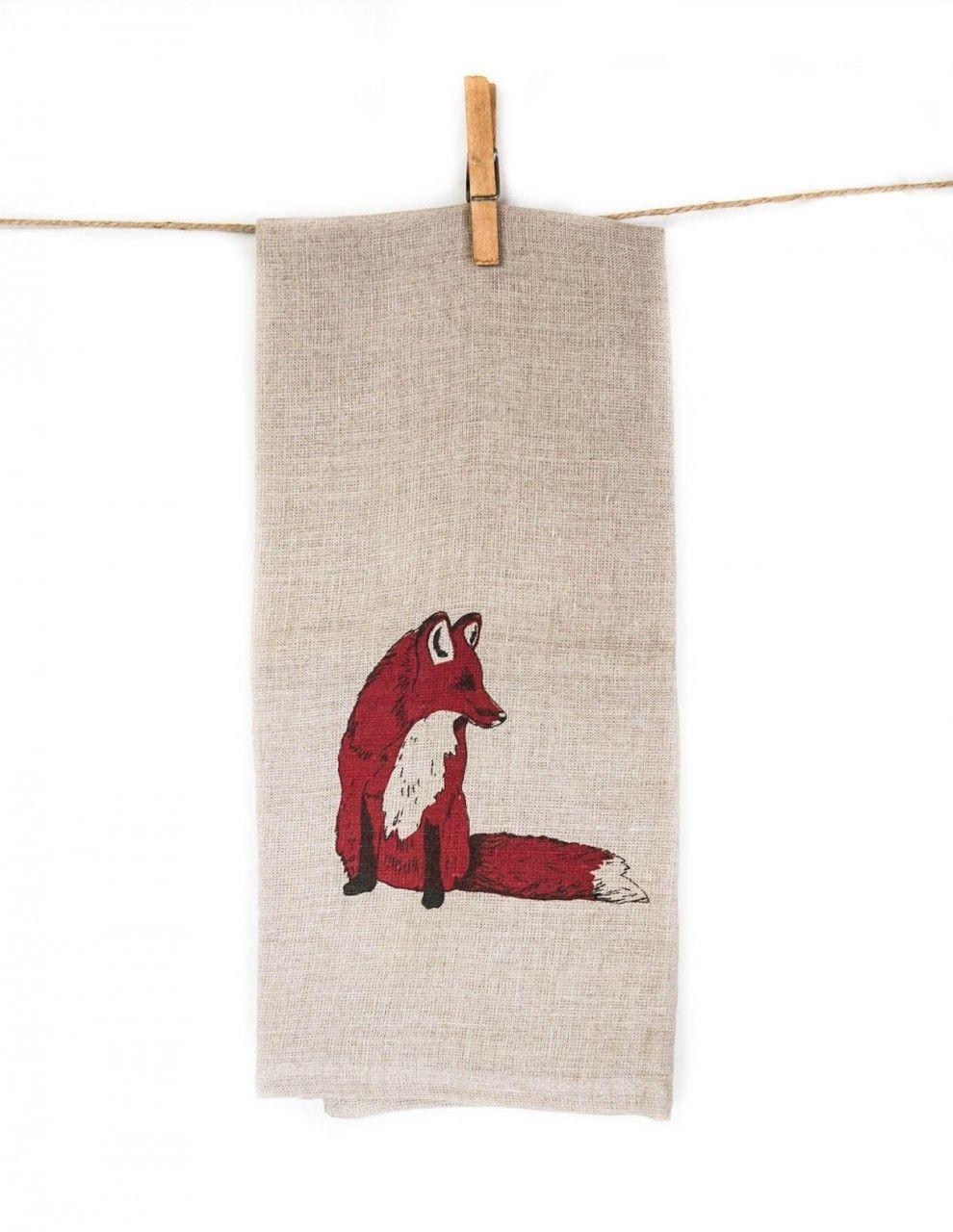 Danica Studio Linen Wildwood Tea Towel @ Pigment