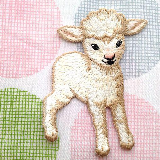 アップリケワッペン ベビーラム 子羊 W-0171