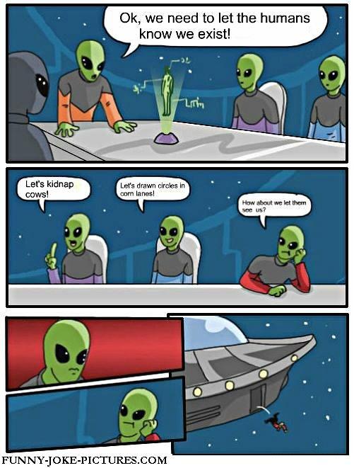 Funny Alien Existence Cartoon