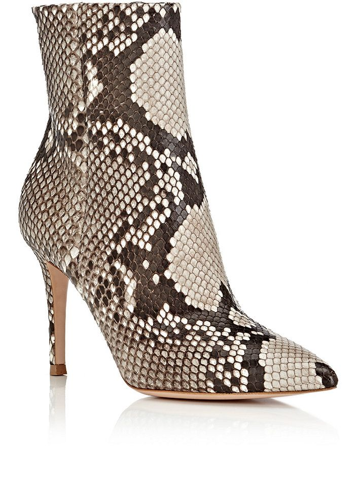 Gianvito Rossi Pointed-Toe Python Ankle Boots free shipping for sale l6FOyQL