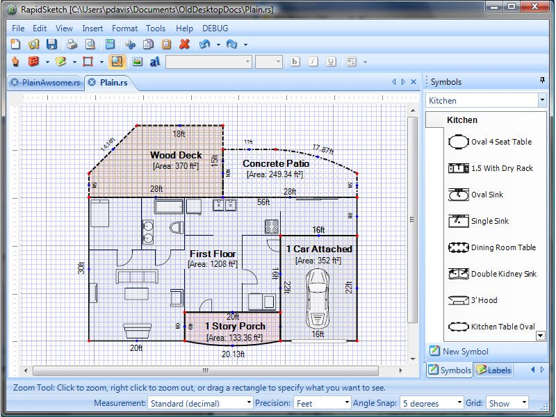 Rapidsketch Is The Fastest And Easiest To Learn Software For Creating Accurate Floor Plan L Home Design Floor Plans Home Design Software Free Floor Plan Design