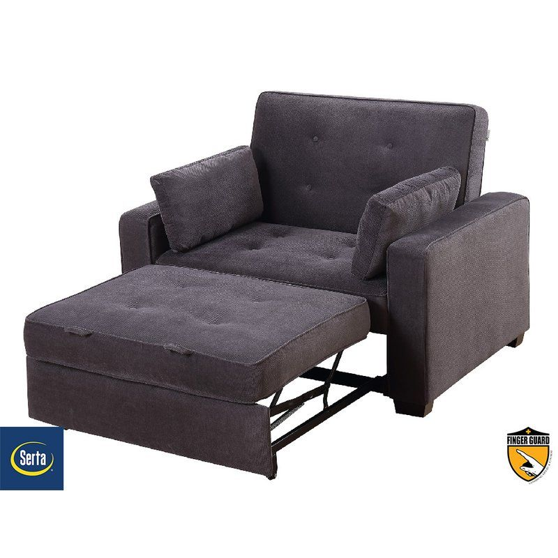 The Serta Anderson Twin Convertible Chair Is A Pull Out, Twin Size Sofa Bed