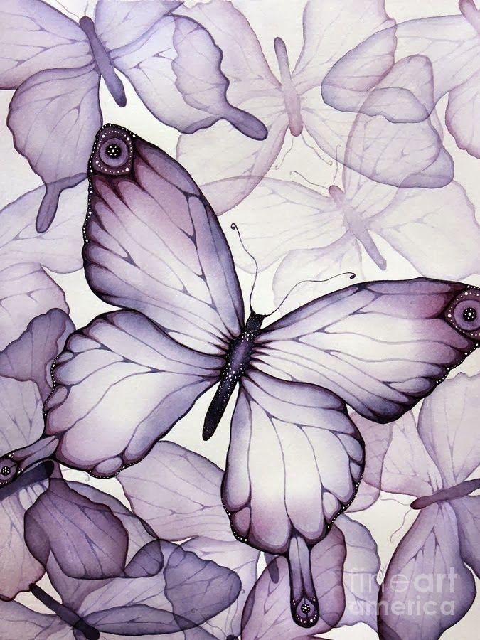 Ahsap Boyama 58 Kelebek Desenli Dekupaj Resim Cizimler