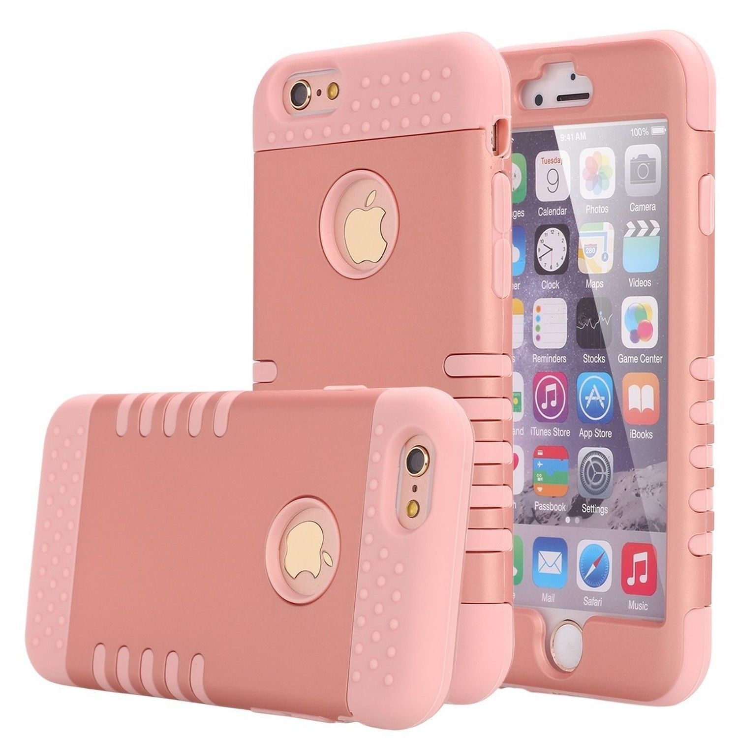 official photos db2fd d3246 RUGGED ROSE GOLD No-Slip Bling Cute Cell Phone Case Holder For ...