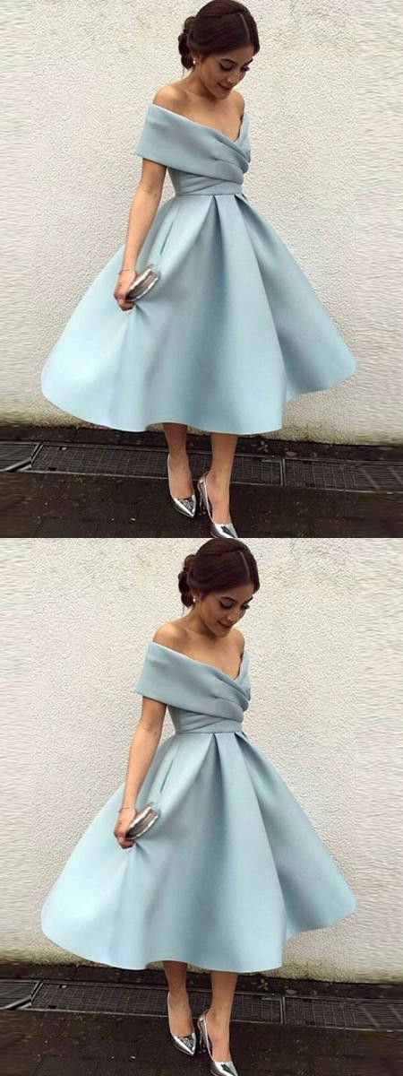 Off The Shoulder Homecoming Dress Blue Cheap Homecoming Dress ER206 - Kleider