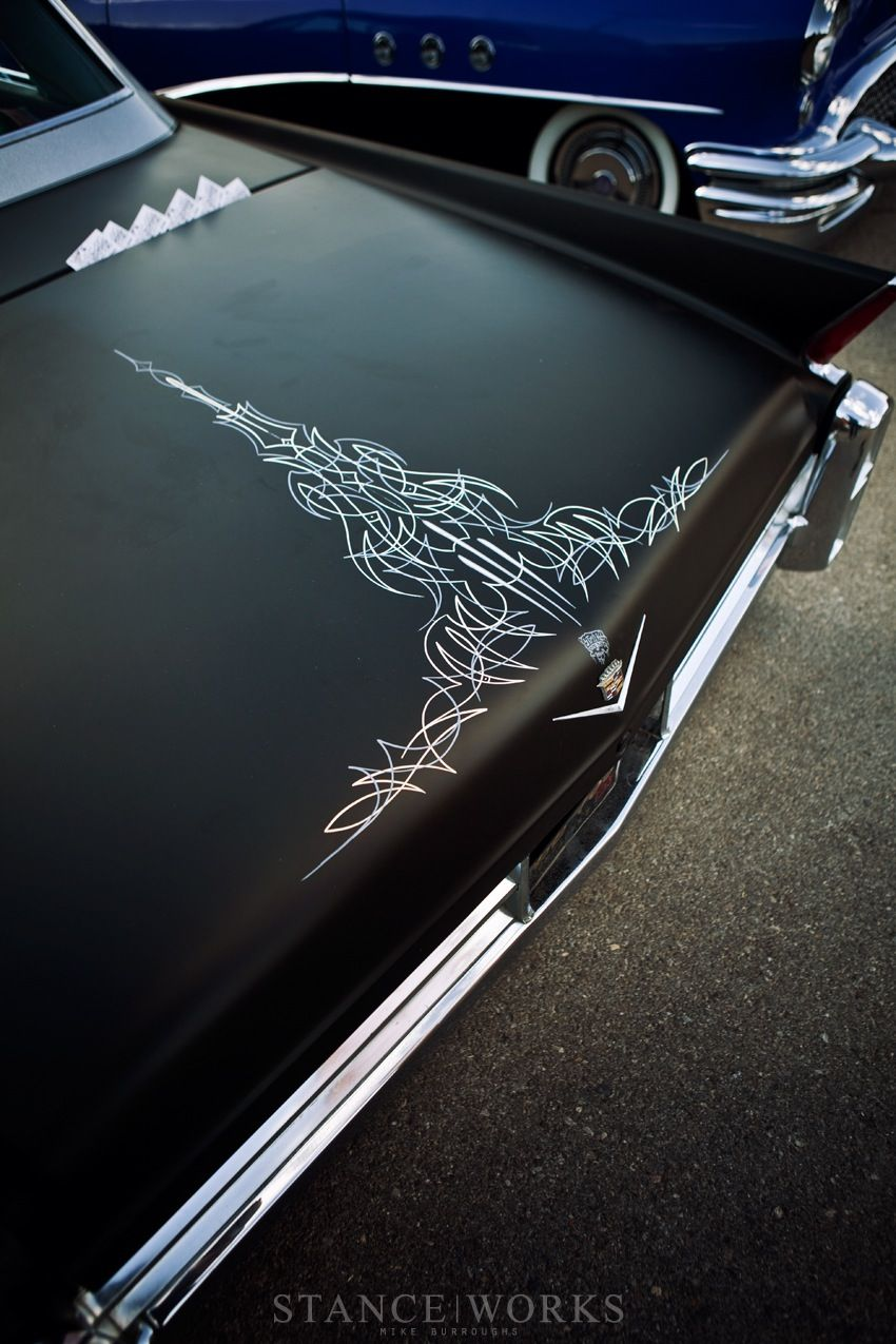 Classic cars authority cool pinstriping from the la roadster show - Von Dutch