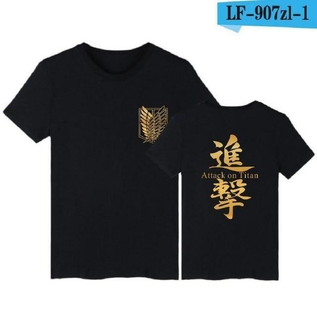 Photo of Attack on Titan T-Shirt – Black / US L / Asian XXXL