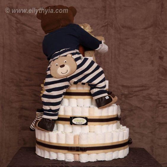 Diaper Cake Diaper Cake Pinterest Diapers Cake And