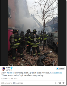 Recent reports say about 168 police and fire officials in NYC responded to an explosion at an occupied building on 116th Street and Park Avenue in Manhattan that happened at 9:13am this morning.