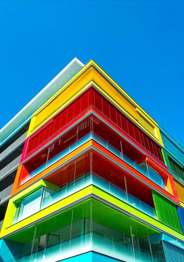 Contemporary Building Blocks: Color Blocked Architecture - Spain