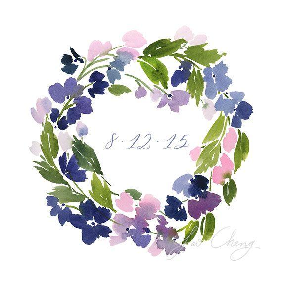 Yao Chen Design Violet Wreath