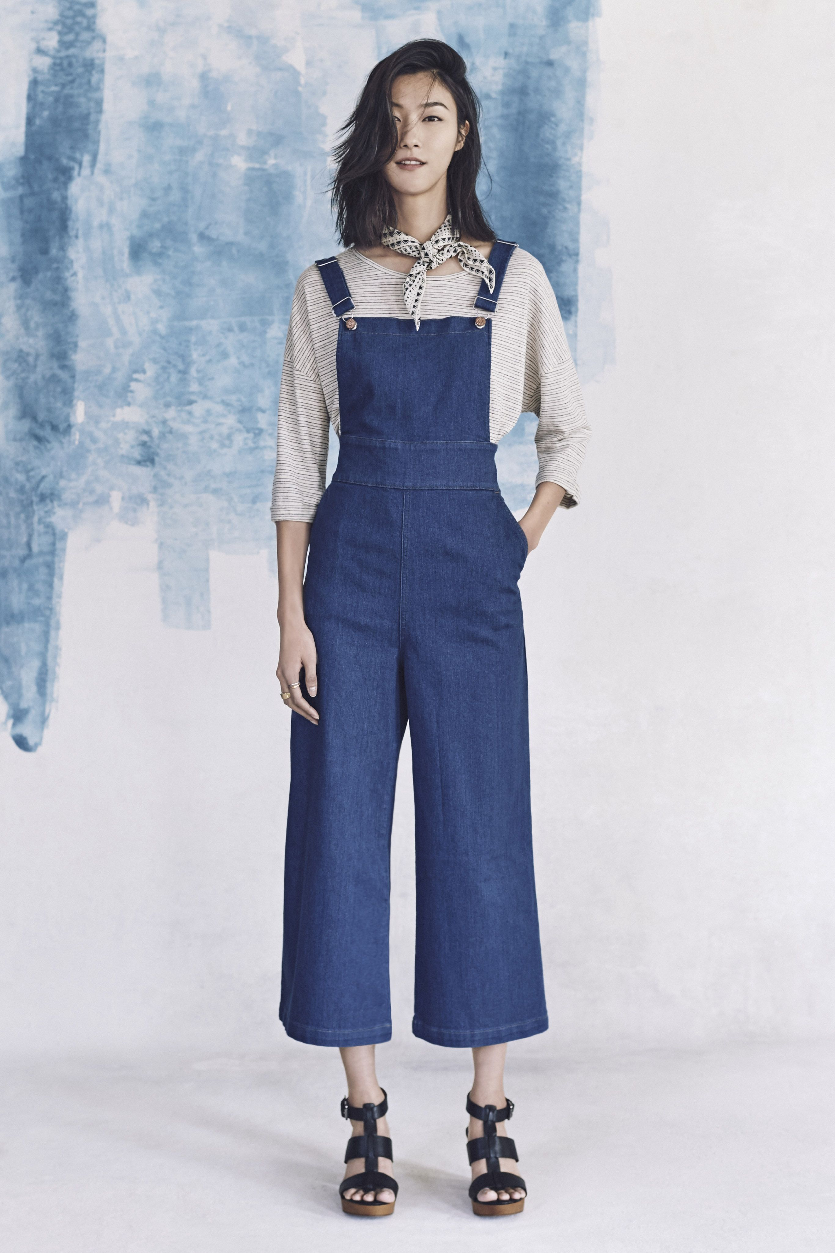 44c68728cce8 your sneak peek at madewell s spring 2016 collection  denim wide leg  cropped overalls