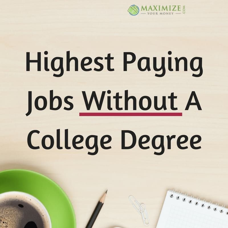 Highest Paying Jobs Without A College Degree College