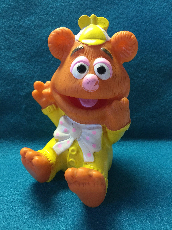 Fozzie Bear, Vintage Squeeze Toy, 1980s Muppets, Fozzie