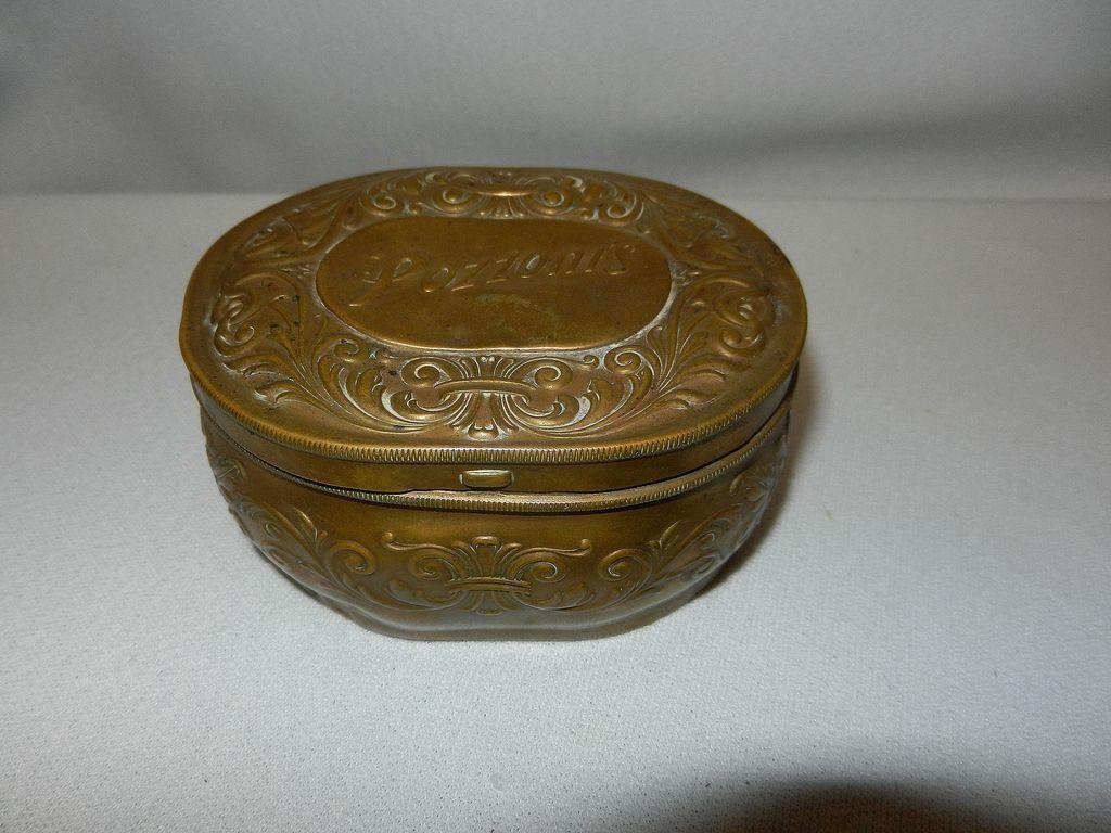 Vintage Pozzoni's Brass Powder Box