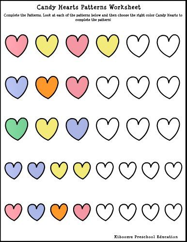 Candy Heart Worksheet  Valentines Day In The Classroom
