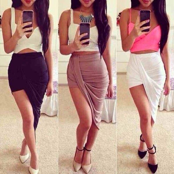 Skirt, $3 at amazon.com - Wheretoget   Draped skirt, White beige ...
