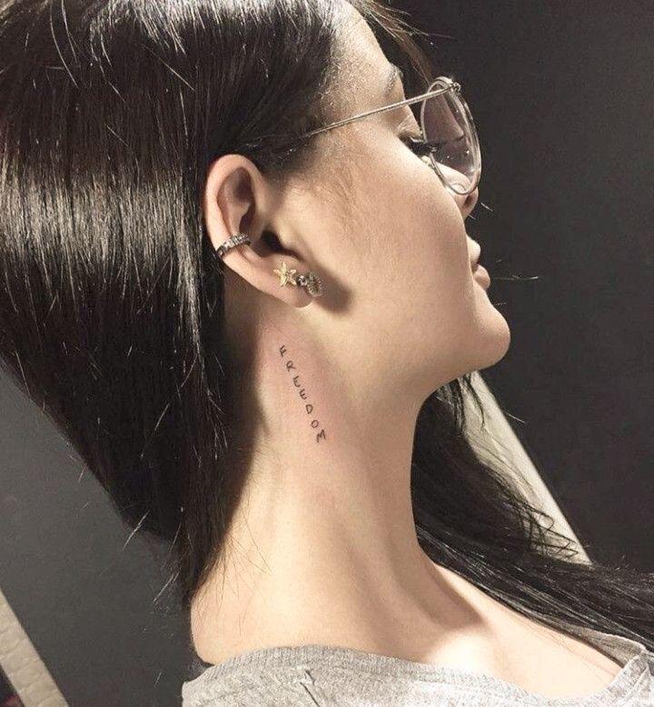 77 Small Tattoo Ideas For Women Ecemella Neck Tattoos Women Girl Neck Tattoos Small Neck Tattoos