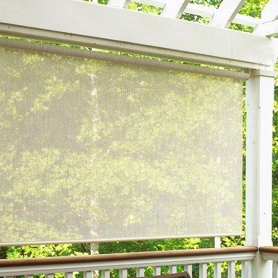 Sun Shade In Sand Size 96 W X 72 L By Radiance 93 00 Made From Polyester Coated With Pvc Energy Efficient Outdoor Blinds Blinds For Windows Blinds Design