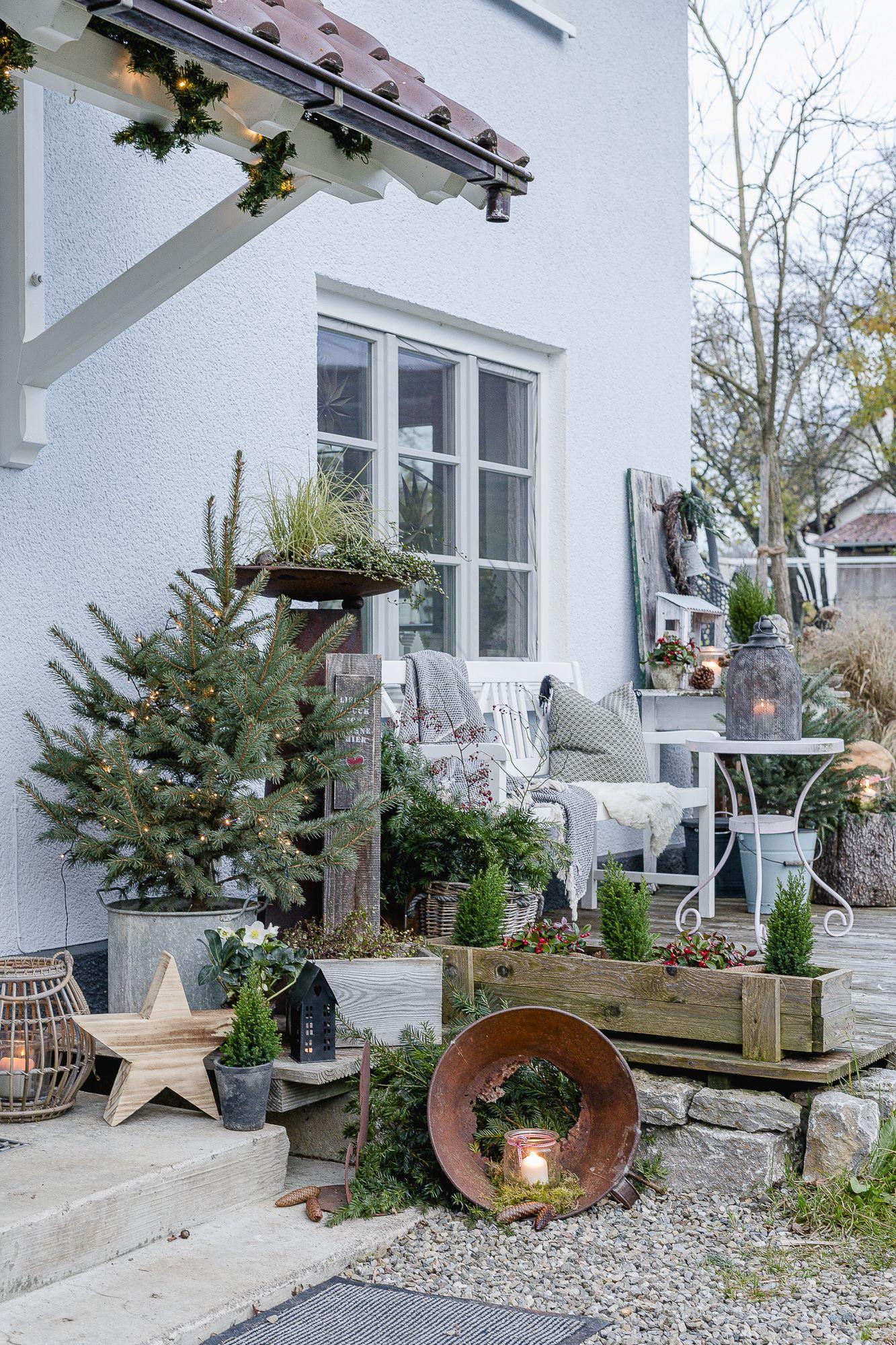 Photo of Weihnachtsstimmung im Garten und auf der Terrasse