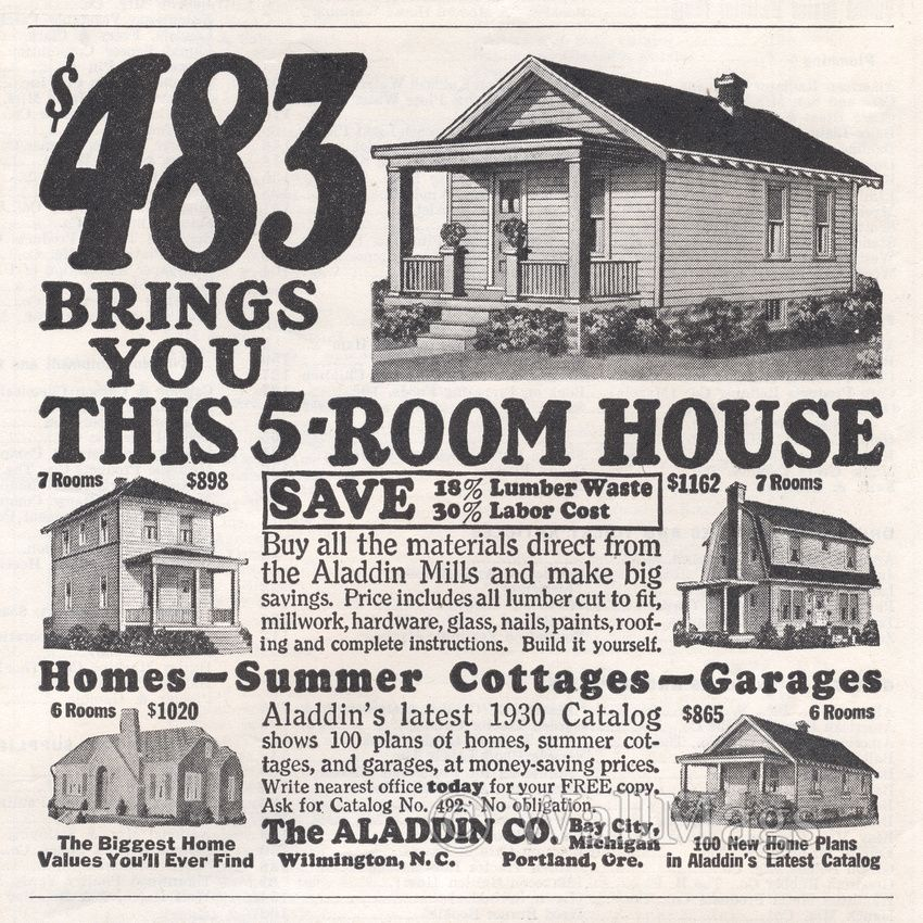 The Aladdin Company was a pioneer in the pre-cut, mail order home
