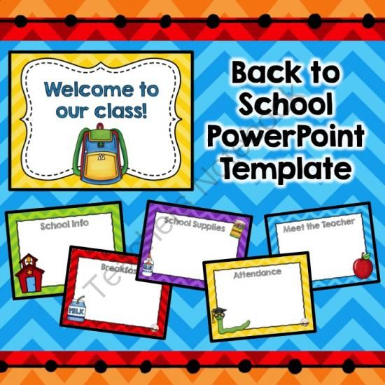 back to school editable powerpoint template from k is for, Modern powerpoint