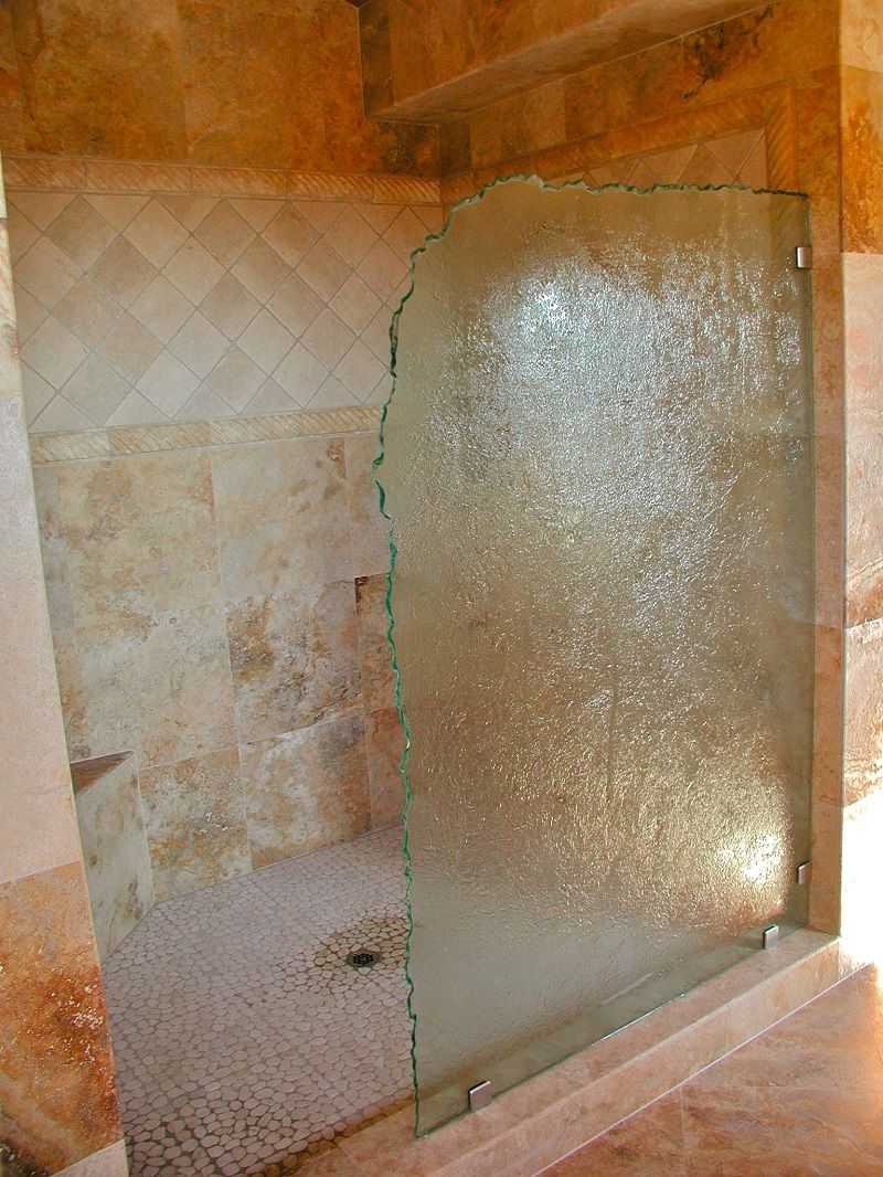 cast glass shower partition by gomolka design studio creative