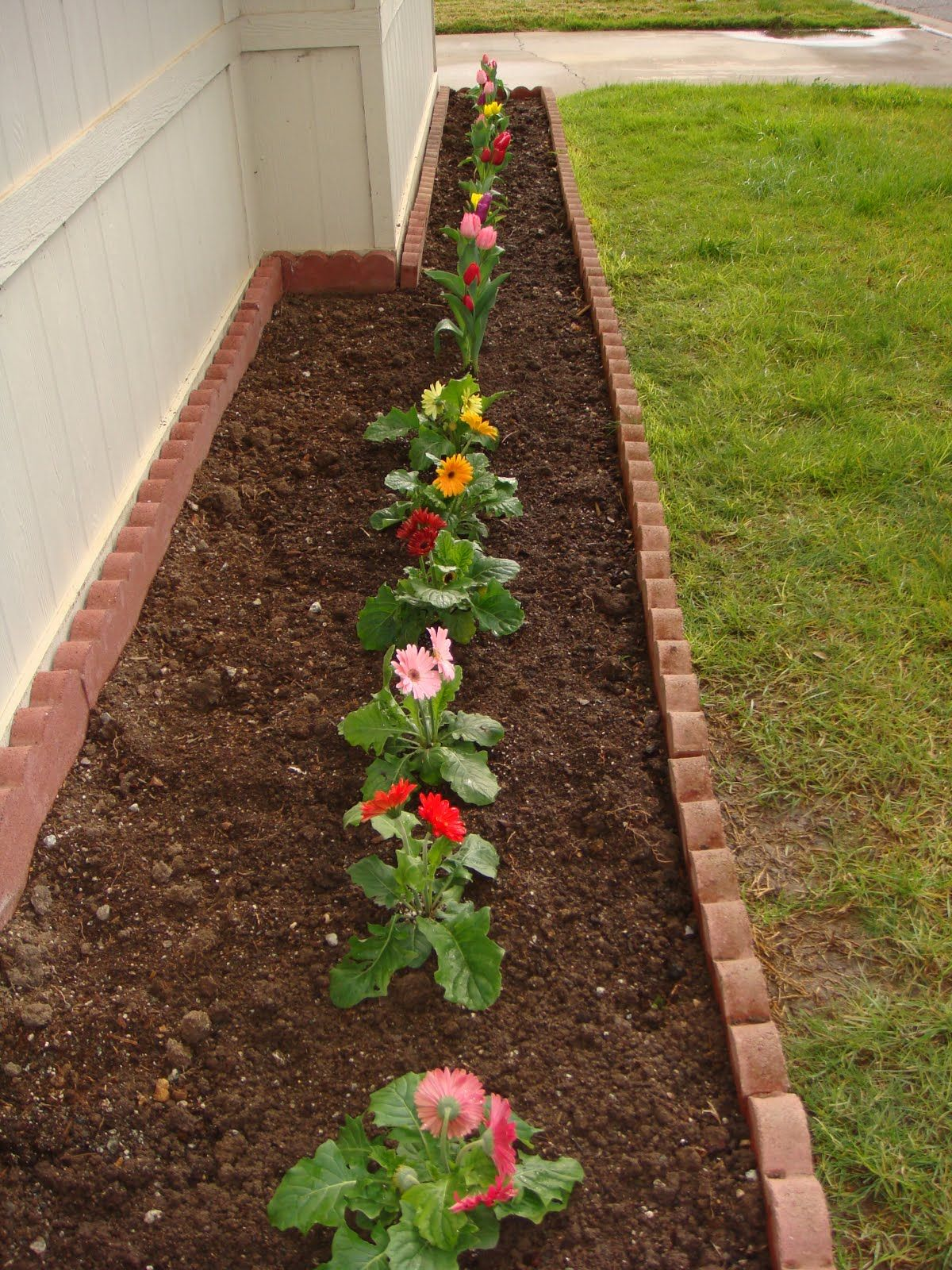 Charming small backyard flower gardens photo design ideas for Front garden bed ideas