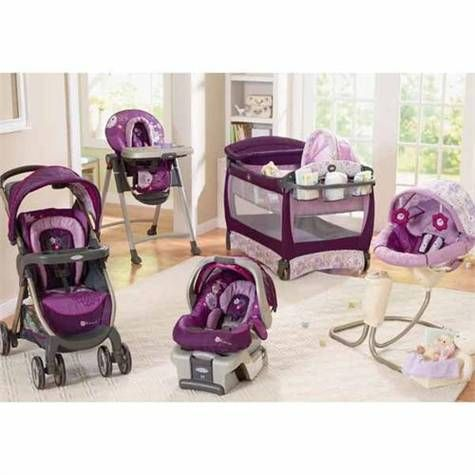 I love this purple Minnie Mouse Graco set!!! So jealous it didn't come out a year ago!