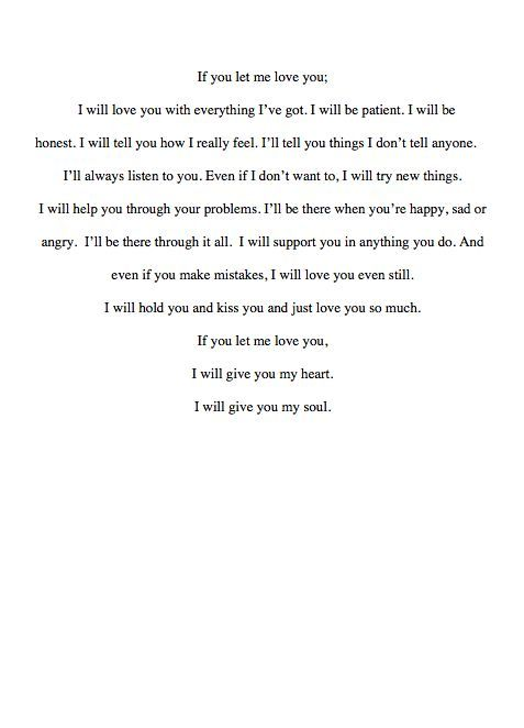 Let me love you for the rest of my life so true Pinterest