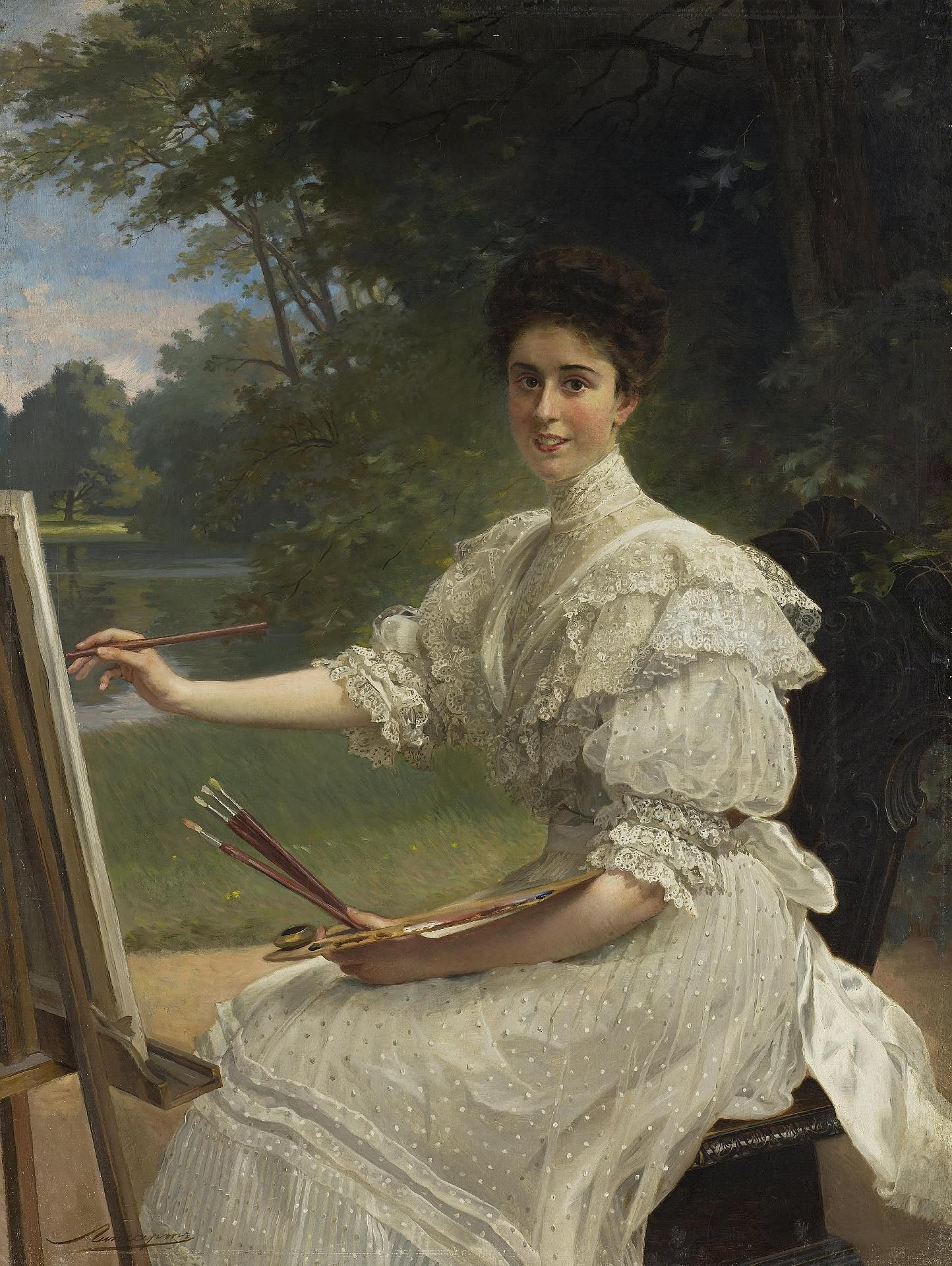 "Liphart, Ernest Karlovich ""Portrait of a Young Woman"