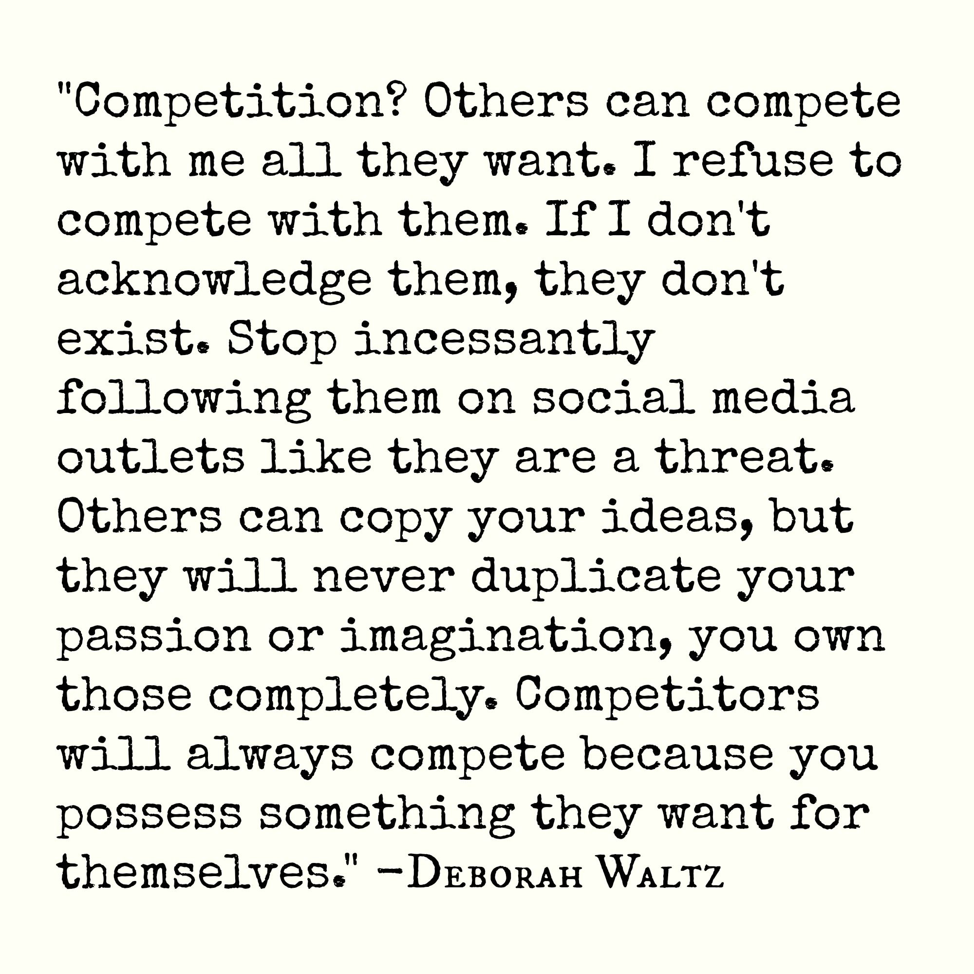 Quote About Competition And You Can Quote Me On That Words I