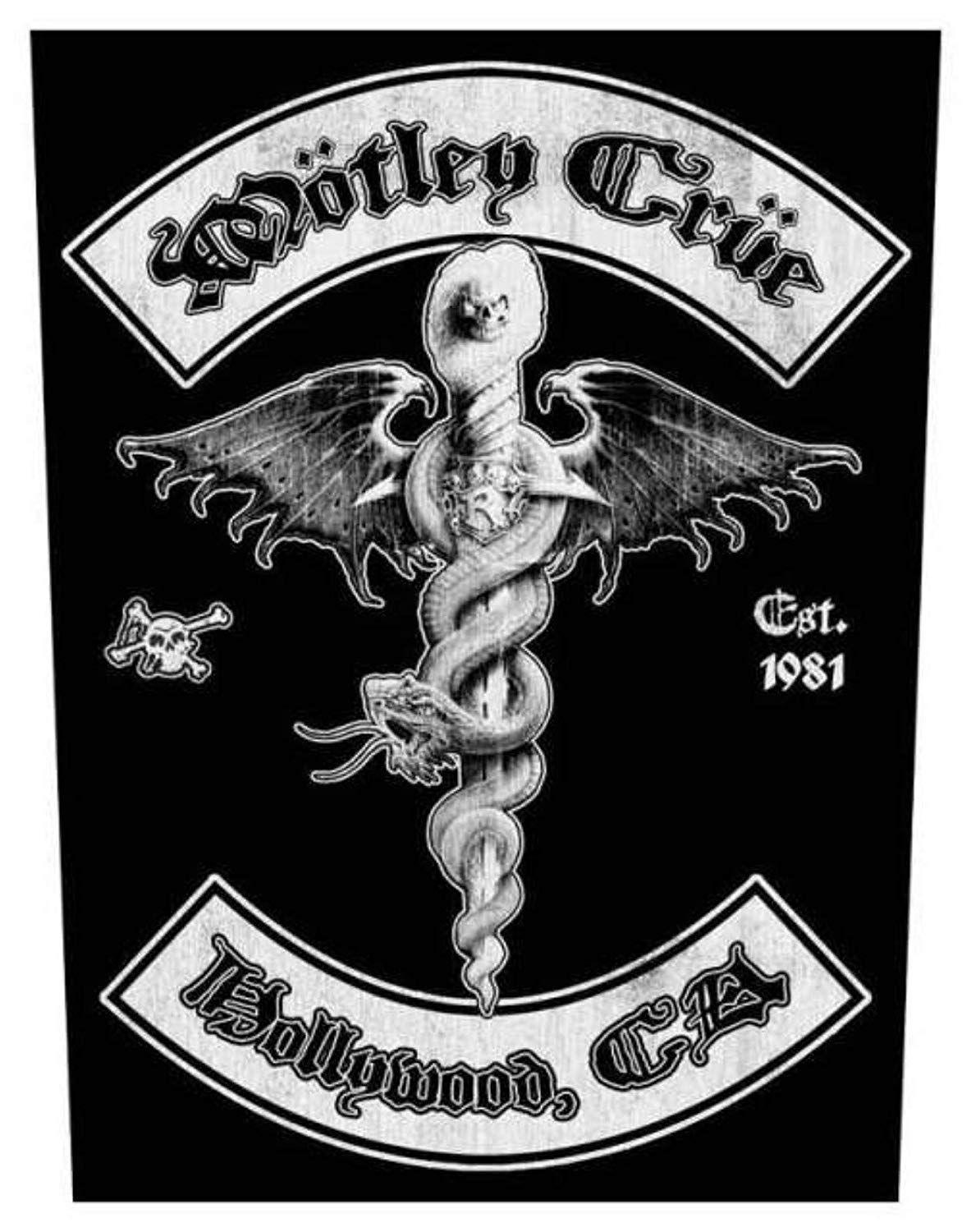 Motley Crue Hollywood Backpatch Amazon.co.uk Clothing