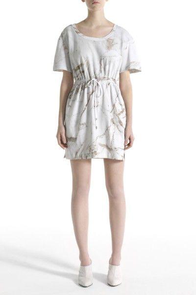 Chalayan Black Line SS13 Marble Print Sweatshirt Dress