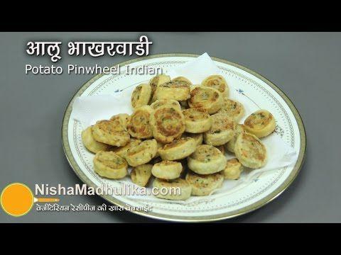 Aloo bakarwadi recipe video potato pinwheels indian savoury aloo bakarwadi recipe video potato pinwheels forumfinder Image collections